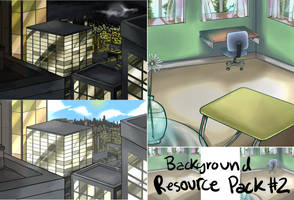 Two free to use Backgrounds Buildings and Room by Voiii
