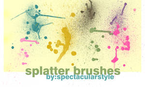 splatter brushes set 01