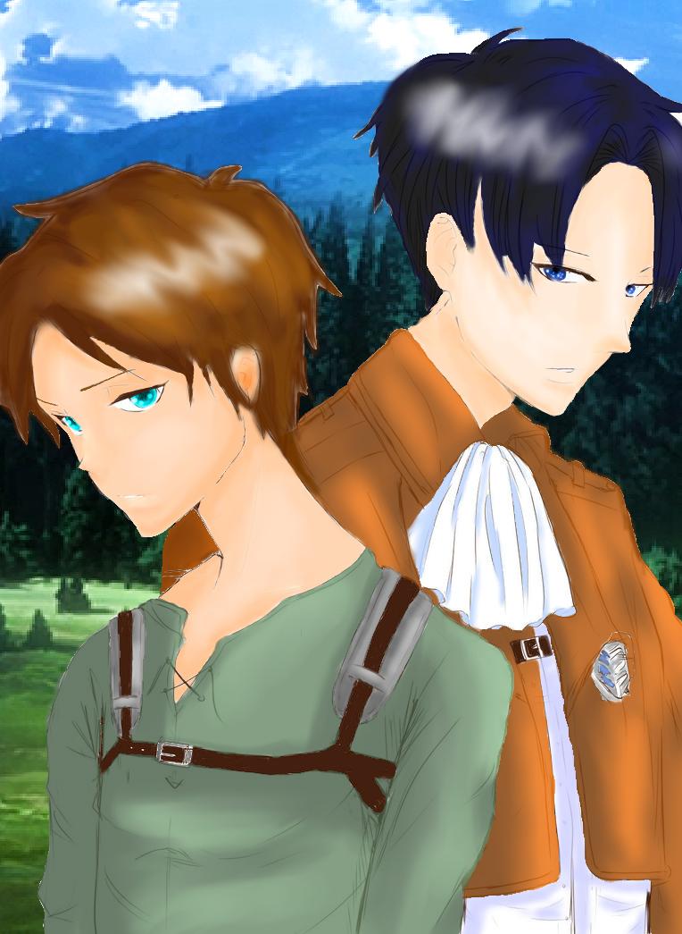 Eren and Levi by VioletLightning244