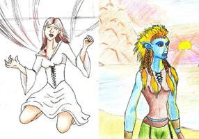 Painting + Drawing Sketchbook by earthsprite