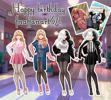 Happy birthday fnaffanart67! by pikachunita887