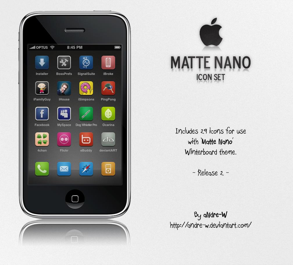 Matte Nano Icon Set by aNdre-W
