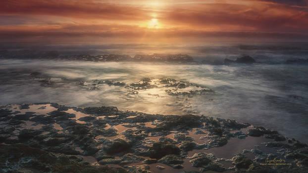Tidal Sunset // Wallpaper