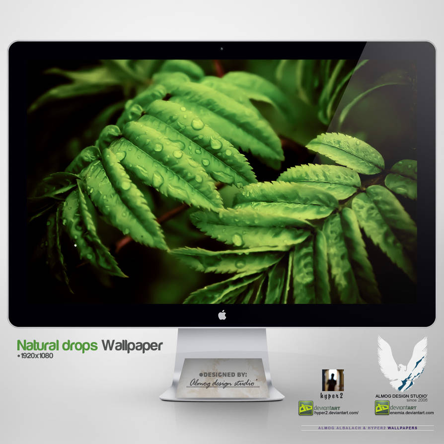 .NATURAL DROPS. Wallpaper by enemia