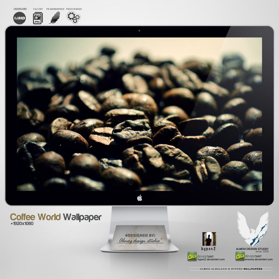 .COFFEE WORLD. Wallpaper by enemia