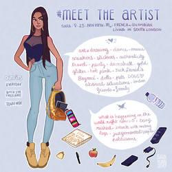 Meet tThe Artist flash by sarakuan