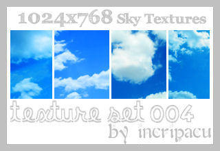 Sky Textures - Set 004 by Incripacu