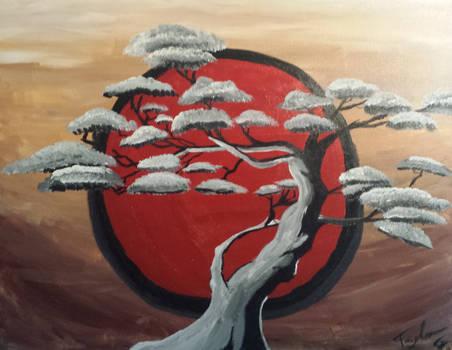 Painted Juniper Bonsai Tree