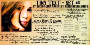 Tiny Text Set 5 by ibelonginnarnia