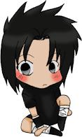 sasuke uchiha otaku mascot by Ganko-sankin