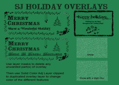 SJ Holiday Overlays by digitalladysyd