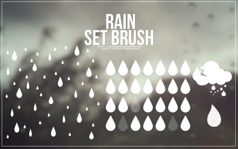 Brush Set #3 - rain