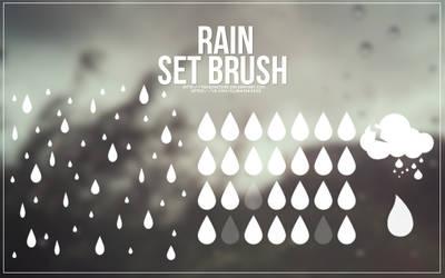 Brush Set #3 - rain by Takeshi1995