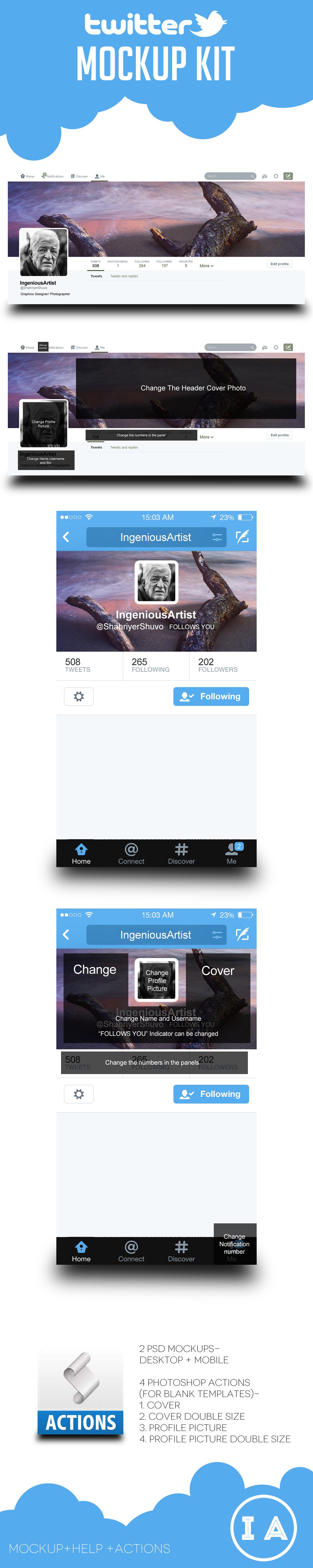 Twitter Kit (Freebie) by shahriyer