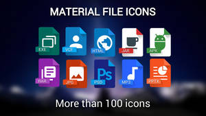 Material Files icons