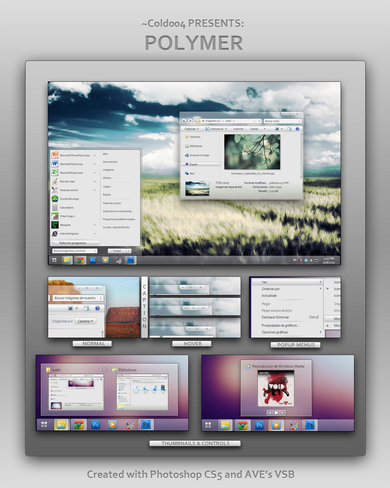 Polymer great visual style for windows 7 polymer great - Nasa spacescapes windows 7 ...
