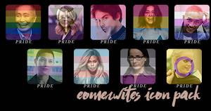 Pride month icon templates