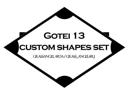 Gotei 13 Custom Shapes By Grassangel On Deviantart