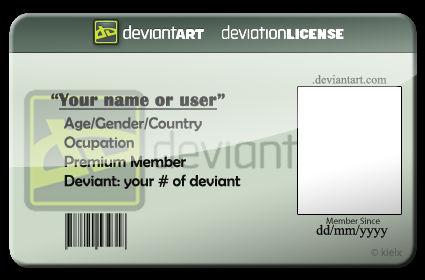 dA license Template PSD.