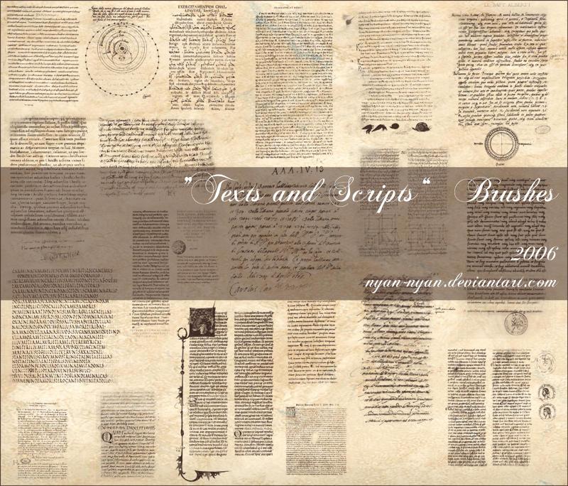 Texts and Scripts Bruhes by nyan-nyan