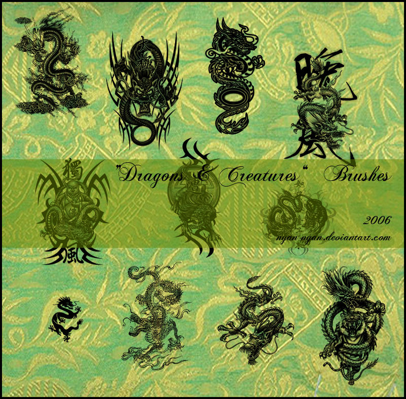 Dragons and Creatures Brushes by nyan-nyan