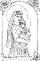 FREE Our Lady of perpetual Help Coloring Page by szynszyla-stokrotka