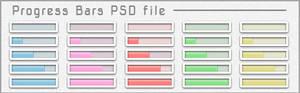 Progress Bars PSD