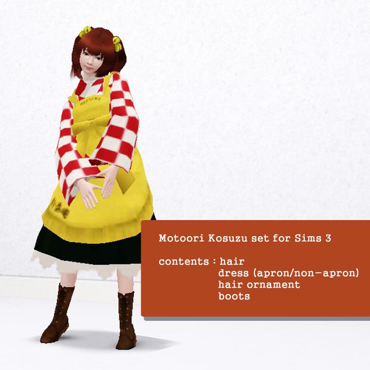 [Sims Touhou] Motoori Kosuzu skin for Sims 3