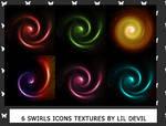 Swirls icon textures