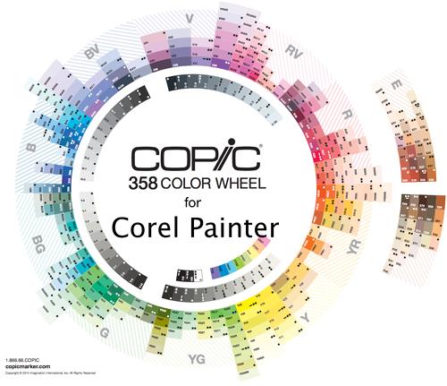 Copic Color Set for Corel Painter by kayleefuzzyhat