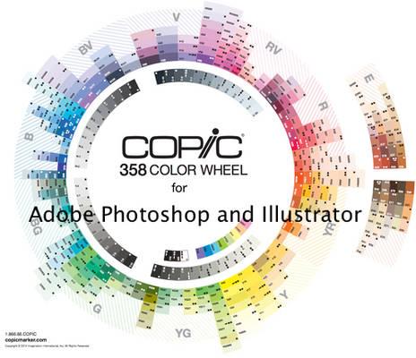 Copic Swatches for Adobe Photoshop + Illustrator