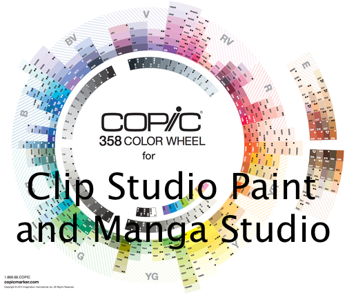 358 Copic Color Set for Clip Studio Paint by kayleefuzzyhat