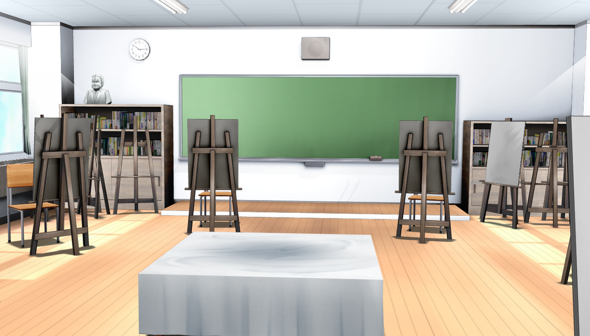 Art classroom mmd download by cycypinkb on deviantart for 3d room simulator