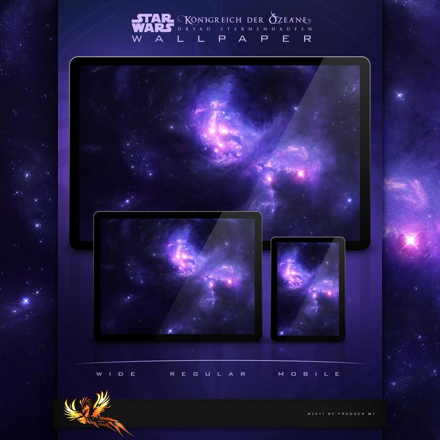 Dryad Starcluster - Wallpaper by FraggerMT