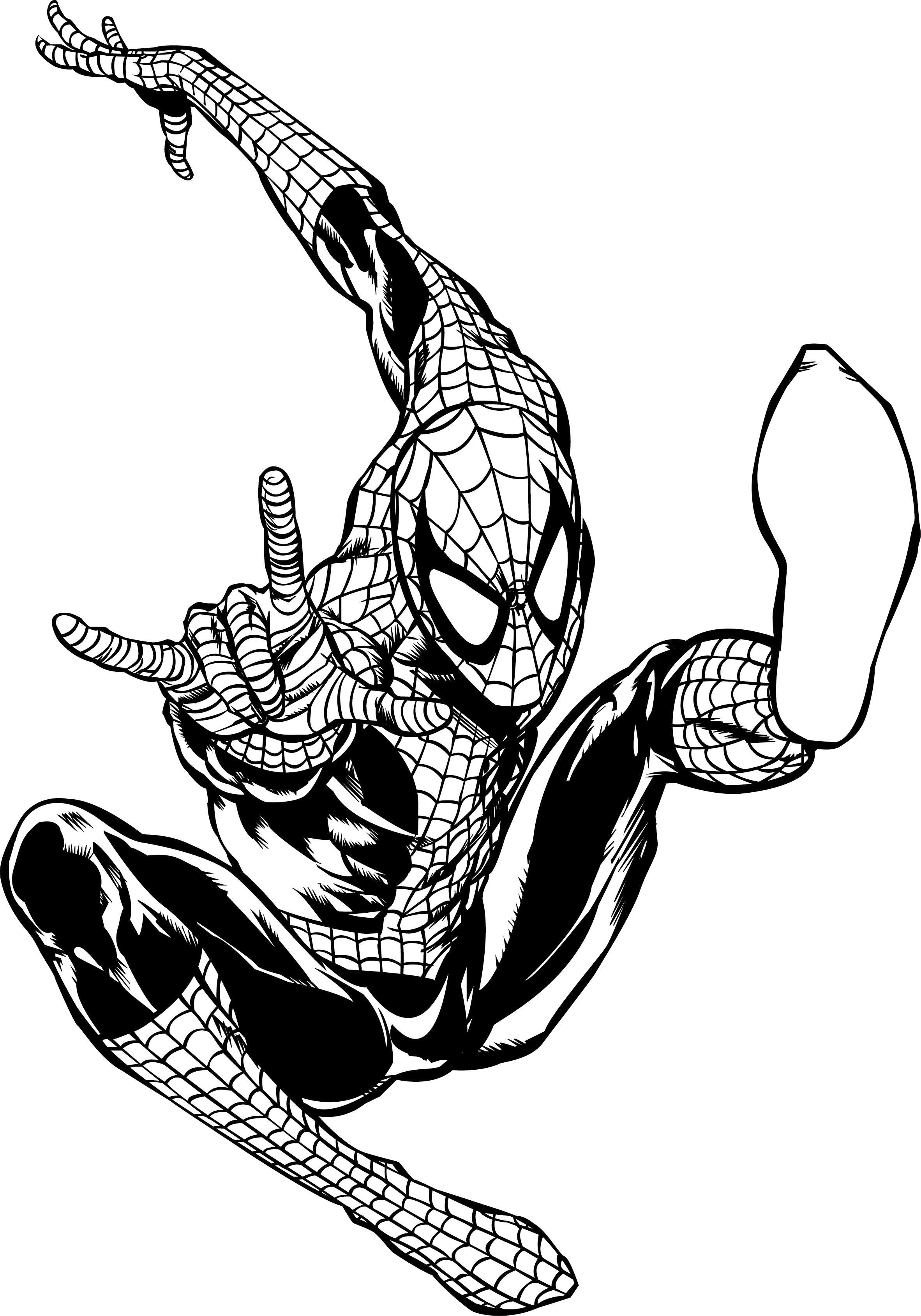 Coloring Pages Spiderman Homecoming