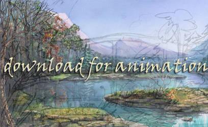 watery landscape sketch wip by calisto-lynn