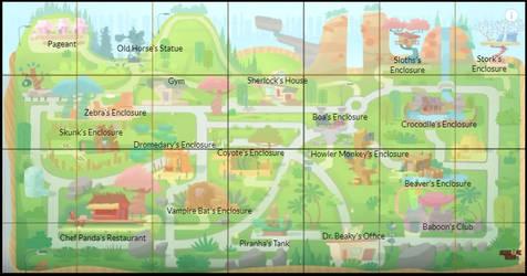 Sherlock Yack - Zoo Map (location marks)