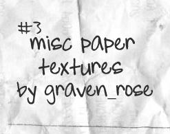 Texture-Set-3-Misc-Paper by graven-rose