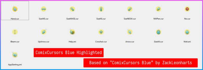 ComixCursors Blue Highlighted