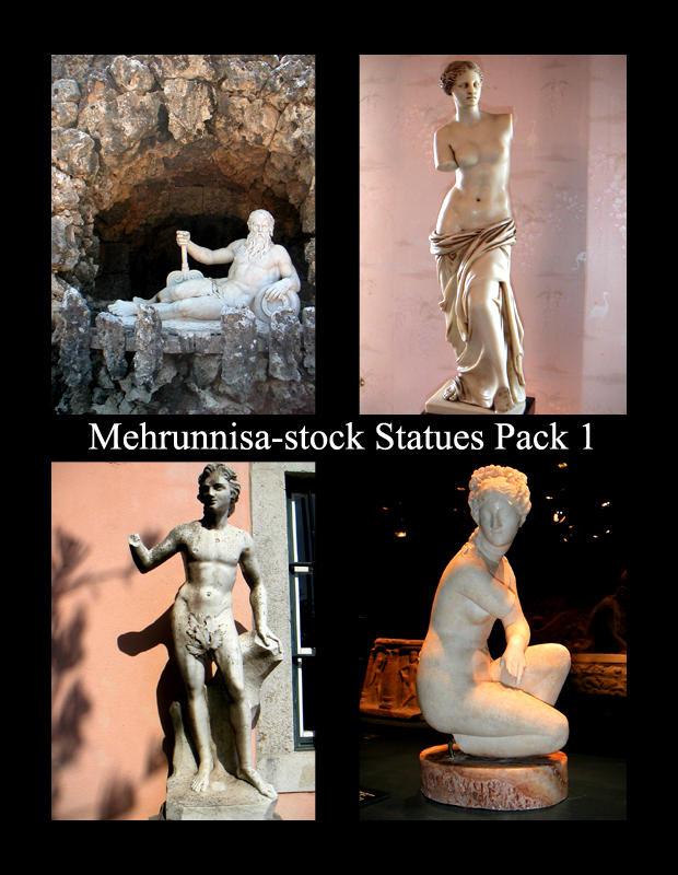 Mehrunnisa-stock Statue Pack 1 by Mehrunnisa-stock