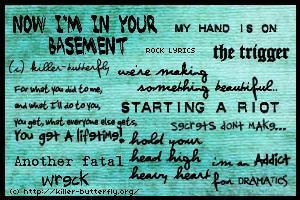 Rock Lyrics by killerbutterfly