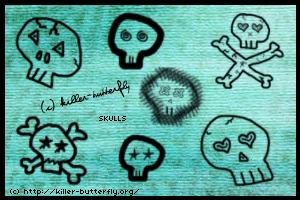 Skulls by killerbutterfly