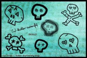 Skulls by killerbutterfly