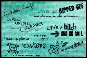 Green Day Lyrics : Brushes by killerbutterfly