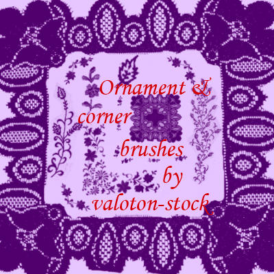 Ornament and Corner brush set by valoton-stock
