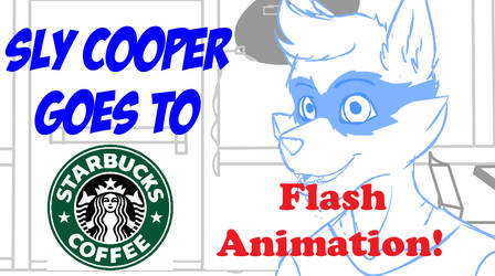 :Anim: Sly Cooper Goes to Starbucks by SnookumsGal