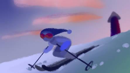 Skiier animation