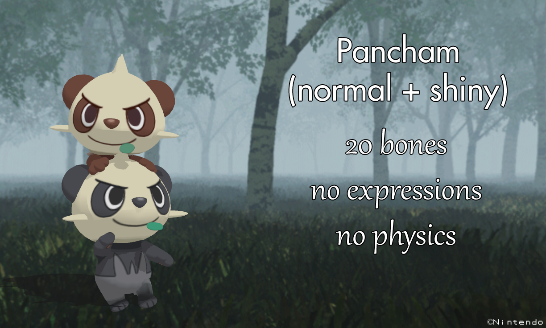 MMD Pokemon X Y - Pancham -close-