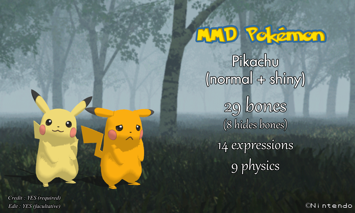 MMD Pokemon XY - Pikachu -close-