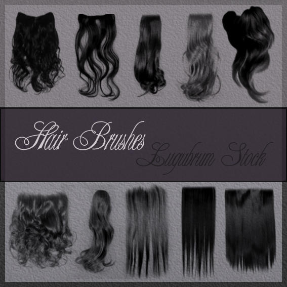 Photoshop HAIR brushes pack 10